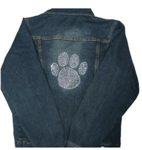 Paw Print Denim Jacket