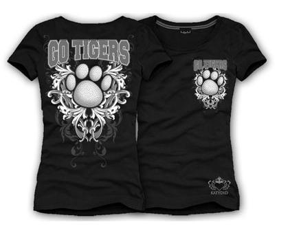 Paw Print Tiger's Black t-shirt