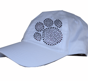 Paw Print White Baseball Cap