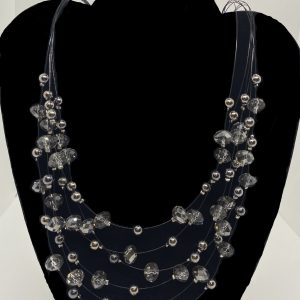 Necklace-multi-strand-earrings