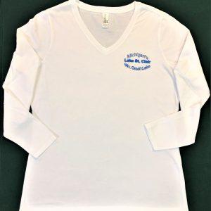 Lake St. Clair v-neck t-shirt
